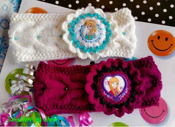Hand knitted girls headbands
