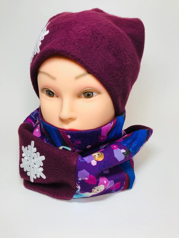Handmade fleece beanie and scarf